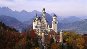 Architecture Castle Landscape Neuschwanstein Castle 1920x1080 wallpaper