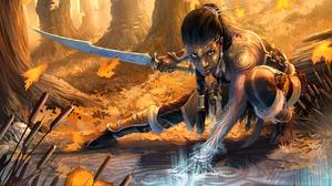 Fantasy Women Warrior 1728x1296 Wallpaper