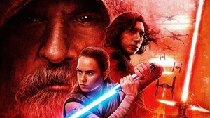 Adam Driver Daisy Ridley Kylo Ren Lightsaber Luke Skywalker Mark Hamill Rey Star Wars Star Wars Tie  1920x1080 Wallpaper