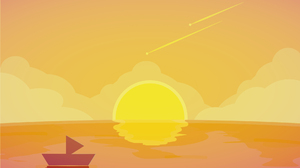 Boat Ocean Shooting Star Sunset 1920x1200 Wallpaper