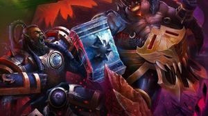 Azmodan Diablo Iii Heroes Of The Storm Thrall World Of Warcraft 2949x2000 wallpaper