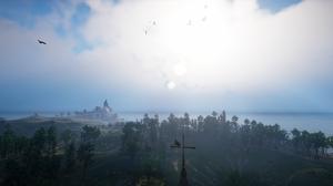Assassins Creed Valhalla Landscape Sky Clouds Trees 3440x1440 Wallpaper