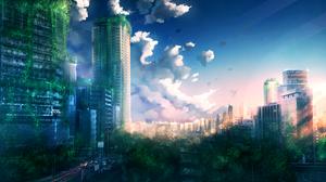 City Sunset 2880x1620 Wallpaper