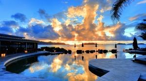 Hotel Ocean Pool Resort Saint Barthelemy Sea Tropical 2182x1450 wallpaper