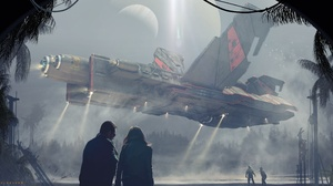 Spaceship 4999x2427 Wallpaper