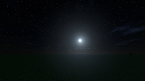 Night Stars Space Minecraft Video Games Moon 1920x1080 Wallpaper