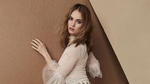 Actress Brown Eyes Brunette English Girl 2300x1294 wallpaper