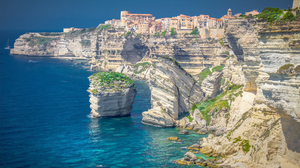 City Coastline Corsica France Rock Saint Julien 1920x1232 Wallpaper