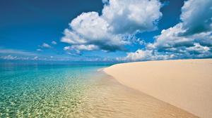 Beach Earth Horizon Ocean Sea Tropical Turquoise 1920x1080 Wallpaper