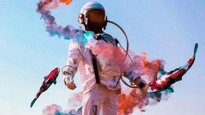 Space Suit Fish Smoke 1920x1535 wallpaper