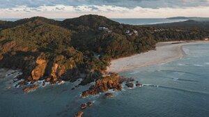 Landscape Nature Beach Rocks Waves Sea Portrait Display Vertical 2948x4096 Wallpaper