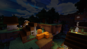 Minecraft Village PC Gaming Video Games Screen Shot 1920x1080 Wallpaper