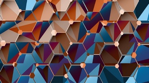 Abstract Hexagon 1920x1080 Wallpaper