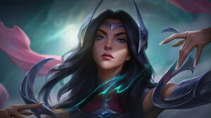Foritis Wong Digital Art Irelia League Of Legends Irelia League Of Legends Character Design Fantasy  1920x1080 Wallpaper