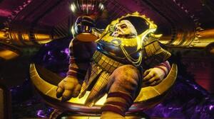 Destiny 2 Video Game Gold Wine Cabal 2560x1080 Wallpaper