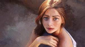 Blue Eyes Face Freckles Girl Redhead Woman 1920x1272 Wallpaper
