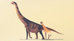 Dinosaur Giraffe Minimalist 3237x1897 Wallpaper