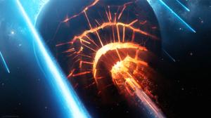 Collision Planet Space 1920x1080 Wallpaper