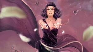 Butterfly Fantasy Girl Purple Woman 1920x1080 wallpaper