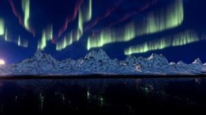 Aurora Borealis Earth Light Mountain Nature Snow 3840x2160 Wallpaper