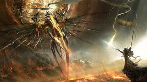 Digital Art Fantasy Art Sword Mountains Angel Eldar Warhammer 40 000 1920x1080 Wallpaper