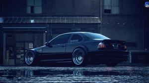 BMW BMW M3 E46 Black Black Cars Need For Speed NFS 2015 7632x4068 Wallpaper