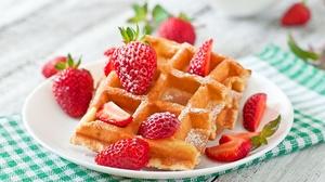 Breakfast Strawberry Berry Fruit 1920x1200 Wallpaper