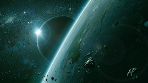 Asteroid Earth Moon Space 1920x1200 Wallpaper