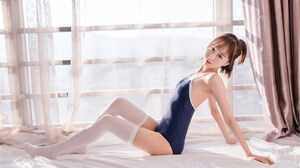 Asia Dergunova Silk Stockings Women Asian 1600x987 wallpaper