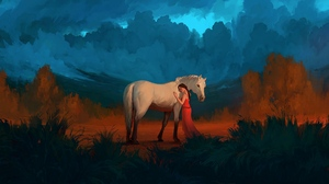 Girl Horse 2560x1600 Wallpaper