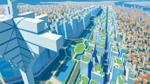 Anime City Promare 2254x1440 Wallpaper