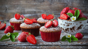 Baking Berry Cupcake Dessert Strawberry 1920x1200 Wallpaper