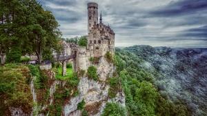 Castle Landscape Germany Castle Lichtenstein Building 2560x1704 Wallpaper