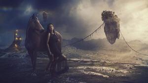 Girl Horse Sky 2048x1366 Wallpaper