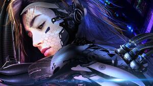 Artwork Science Fiction Cyberpunk Women 1920x1080 Wallpaper