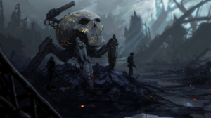 Post Apocalyptic Robot Soldier Weapon 1920x1080 Wallpaper