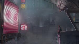 Cyberpunk Blade Runner 2049 Futuristic Digital Art 1800x884 Wallpaper