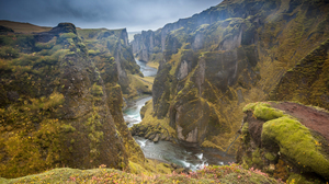 Canyon Cliff Moss Nature River 5250x3500 Wallpaper