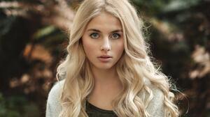 Girl Blonde Blue Eyes Depth Of Field Woman 2048x1365 Wallpaper