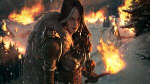 Torch Woman Warrior 1920x1080 Wallpaper