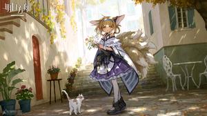 Anime Girls Fan Art Video Game Art Arknights Cat Girl Cats Sho Lwiw 1920x1080 Wallpaper