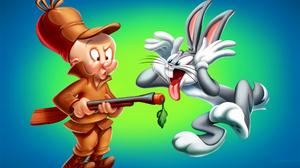 Bugs Bunny Elmer Fudd Looney Tunes 2100x1277 wallpaper