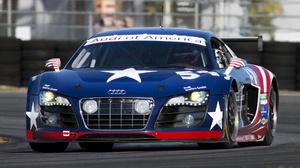Audi R8 Grand Am 24h Daytona Blue Car Car Coupe Race Car Sport Car 1920x1080 Wallpaper
