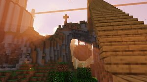Minecraft Shaders Hanging House Dream Smp PC Gaming Video Games Screen Shot 1920x1080 Wallpaper