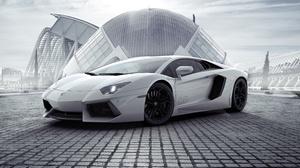 Car Lamborghini Lamborghini Aventador Sport Car Supercar Vehicle White Car 7216x5412 Wallpaper