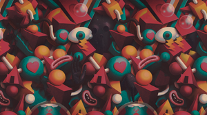 Juan Carlos Paz BAKEA Geometric Figures Space Abstract 2560x1440 wallpaper