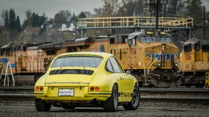 Car Old Car Sport Car Train Yellow Car 2048x1152 Wallpaper