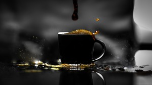 Coffee Cup Slow Motion 5368x3281 wallpaper
