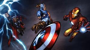 Avengers Captain America Iron Man Marvel Comics Thor 5120x2880 Wallpaper