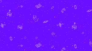 Omori Video Game Stars Pixel Art Sky 2560x1080 Wallpaper